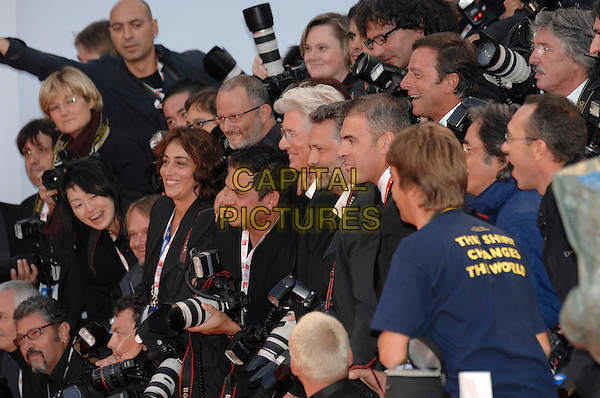 "RICHARD GERE & PHOTOGRAPHERS.""I'm Not There"" premiere arrivals during the .64th Venice Film Festival, Venice, Italy,.4th September 2007..portrait headshot profile press.Ref: CAP/PL.©Phil Loftus/Capital Pictures."