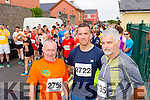 Donie Sullivan (Killarney) James Daly (Ballyheigue) and Tom Browne (Maharees) who took part in the Blennerville 10k run on Sunday morning last.