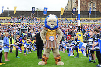 Bath Rugby mascot Maximus. Aviva Premiership match, between Bath Rugby and Worcester Warriors on September 17, 2016 at the Recreation Ground in Bath, England. Photo by: Patrick Khachfe / Onside Images
