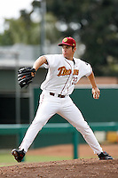 Tommy Milone of the USC Trojans during a game against the Tulane Green Wave at Dedeaux Field on February 25, 2007 in Los Angeles, California. (Larry Goren/Four Seam Images)