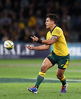 Matt To'omua of the Wallabies during the Rugby Championship match between Australia and New Zealand at Optus Stadium in Perth, Australia on August 10, 2019 . Photo: Gary Day / Frozen In Motion