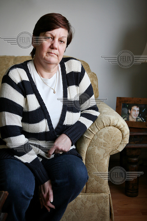Jane Nicklinson, wife of Tony at their home in Melksham, Wiltshire. Tony Nicklinson suffered from locked-in syndrome and died on 22 August 2012 after refusing food. The week before his death he lost a High Court case to allow doctors to end his life.