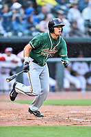 Northern Division designated hitter Boo Vazquez (17) of the Greensboro Grasshoppers swings at a pitch during the South Atlantic League All Star Game at Spirit Communications Park on June 20, 2017 in Columbia, South Carolina. The game ended in a tie 3-3 after seven innings. (Tony Farlow/Four Seam Images)