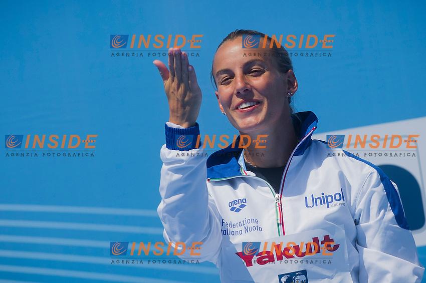 Tania Cagnotto ITA silver medal<br /> Women's 1m springboard final<br /> 15th FINA World Aquatics Championships<br /> Barcelona 19 July - 4 August 2013<br /> Piscina Comunal de Montjuic, Barcelona (Spain) 23/07/2013 <br /> &copy; Giorgio Perottino / Deepbluemedia.eu / Insidefoto