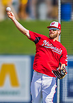 28 February 2017: Washington Nationals outfielder Bryce Harper warms up prior to the inaugural Spring Training game between the Washington Nationals and the Houston Astros at the Ballpark of the Palm Beaches in West Palm Beach, Florida. The Nationals defeated the Astros 4-3 in Grapefruit League play. Mandatory Credit: Ed Wolfstein Photo *** RAW (NEF) Image File Available ***