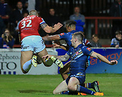 7th September 2017, Beaumont Legal Stadium, Wakefield, England; Betfred Super League, Super 8s; Wakefield Trinity versus St Helens; Dean Hadley of Wakefield Trinity misses the chance of a try