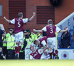 Alan Cook celebrates after scoring for Arbroath