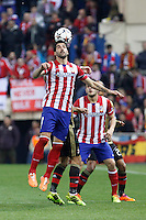 Atletico de Madrid´s Raul Garcia (L) and Koke during 16th Champions League soccer match at Vicente Calderon stadium in Madrid, Spain. January 06, 2014. (ALTERPHOTOS/Victor Blanco)