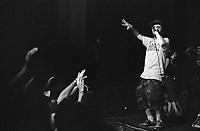 """Milano, """"Push it real - Leoncavallo walls total re-painting"""", al centro sociale Leoncavallo tre giorni dedicati alla cultura hip hop. Il rapper Esa aka El Prez in concerto --- Milan, """"Push it real - Leoncavallo walls total re-painting"""", three days dedicated to hip hop culture at Leocavallo social center. Esa aka El Prez live on stage"""