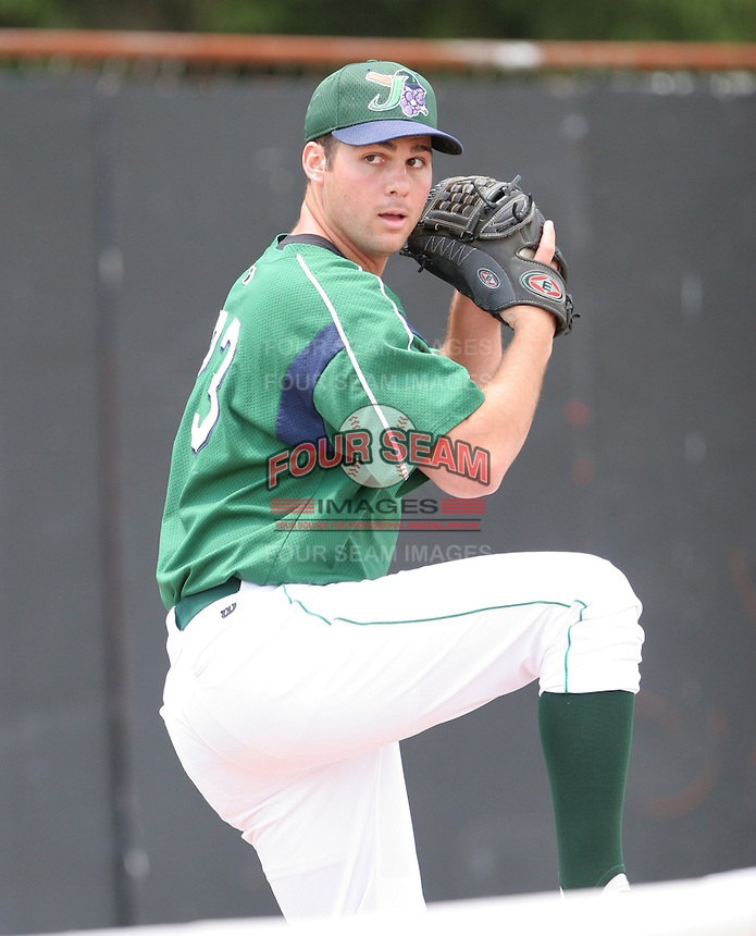 Chris Ingoglia of the Jamestown Jammers, Class-A affiliate of the Florida Marlins, during New York-Penn League baseball action.  Photo by Mike Janes/Four Seam Images
