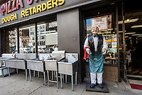 New York, NY - 12 May 2016 - Life sized chef figurine outside a Pizza and kitchen supply store on the Bowery. ©Stacy Walsh Rosenstock