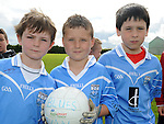 Ronan Geehan, Liam McCormack and William Kavanagh who took part in the Kick to Croker event at Newtown Blues GAA club. Photo: Colin Bell/pressphotos.ie