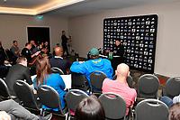 Steve Hansen, All Blacks media conference at Intercontinental Hotel, Wellington, New Zealand on Thursday 13 September 2018.<br /> Photo by Masanori Udagawa. <br /> www.photowellington.photoshelter.com