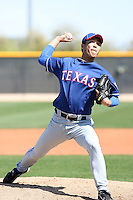 Tae Kyung Ahn, Texas Rangers minor league spring training..Photo by:  Bill Mitchell/Four Seam Images.