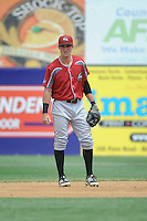 Altoona Curve infielder Drew Maggi (7) during game against the New Britain Rock Cats  at New Britain Stadium on June 25, 2014 in New Britain, Connecticut. New Britain defeated Altoona 3-1.  (Tomasso DeRosa/Four Seam Images)