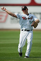 Winston-Salem first baseman Micah Schnurstein (50)  gets loose prior to taking on the Myrtle Beach Pelicans at Ernie Shore Field in Winston-Salem, NC, Monday, May 28, 2007.