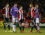 John Fleck of Sheffield Utd with blood coming from a cut during the Championship match at Bramall Lane Stadium, Sheffield. Picture date 30th December 2017. Picture credit should read: Simon Bellis/Sportimage