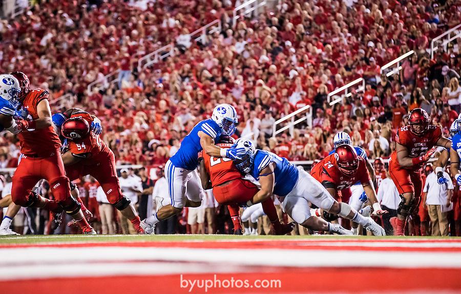 16FTB at Utah 3703<br /> <br /> 16FTB at Utah<br /> <br /> BYU Football at Utah - Deseret First Duel<br /> <br /> BYU-19<br /> Utah-20<br /> <br /> September 10, 2016<br /> <br /> Photo by Jaren Wilkey/BYU<br /> <br /> &copy; BYU PHOTO 2016<br /> All Rights Reserved<br /> photo@byu.edu  (801)422-7322