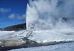 Beehive Geyser eruption, Geyser Hill