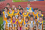 GOING FOR GOLD: The Beaufort team going for gold at the Community Games County Finals at An Riocht Track, Castleisland, last Saturday. Front row l-r: Sophie Cronin, Orla Coffey, Eleanor Connor, Sam Bunskill, Sean Coffey and Danny Healy. Middle row l-r: Samantha Roche, Erica Dowling, Emer OConnor, Michael Breen, Paul Murphy, Liam Curran and Michael Healy. Back row l-r: Cathal Curran, Jack Healy, Maura OSullivan, Sean Kingston and Courtney Cronin..