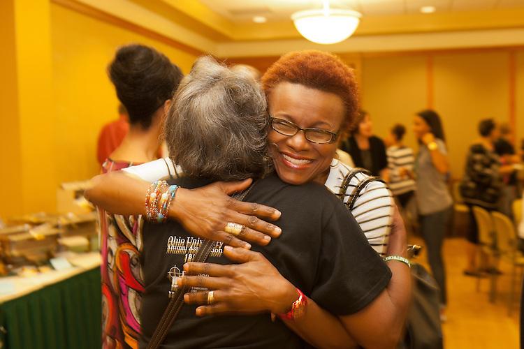 Alumni at the Black Alumni Reunion Welcome Reception at Baker Center on September 27, 2013.