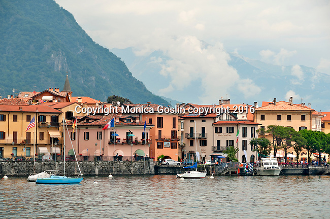 Menaggio waterfront on Lake Como, Italy