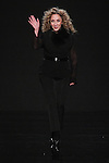"""Fashion designer Reem Acra thanks audience for attending her Reem Acra Fall 2016 """"The Secret World of The Femme Fatale"""" collection runway show, at NYFW: The Shows Fall 2016, during New York Fashion Week Fall 2016."""