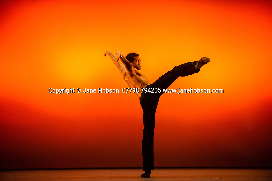 """London, UK. 19.05.2014. English National Ballet presents the final of EMERGING DANCER 2014, at the Lyceum Theatre in London's West End. Picture shows: Junor Souza in """"Last Minute"""". Photograph © Jane Hobson."""