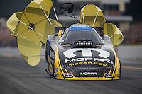 Oct 2, 2016; Mohnton, PA, USA; NHRA funny car driver Matt Hagan during the Dodge Nationals at Maple Grove Raceway. Mandatory Credit: Mark J. Rebilas-USA TODAY Sports