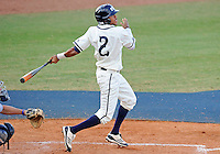 Florida International University infielder Julius Gaines (2) plays against the University of North Florida. FIU won the game 6-4 on March 13, 2012 at Miami, Florida.