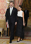King Felipe VI of Spain and Queen Letizia of Spain receive COP25 participants at the Royal Palace. December 2,2019. (ALTERPHOTOS/Pool/Carlos Alvarez)