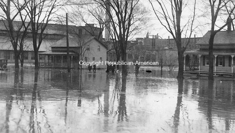 Waterbury during the flood of 1924.