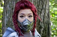 League of Legends Headhunter Akali Cosplayed by Ericah, Pax Prime 2015, Seattle, Washington State, WA, America, USA.