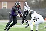 SIOUX FALLS, SD - NOVEMBER 10: Clint Sigg #16 from the University of South Falls looks to make a move against J'Von France #15 from Wayne State during their game Saturday afternoon at Bob Young Field in Sioux Falls. (Photo by Dave Eggen/Inertia)