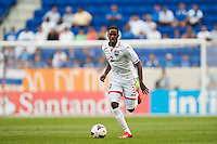 Trinidad and Tobago defender Joevin Jones (3). during a CONCACAF Gold Cup group B match at Red Bull Arena in Harrison, NJ, on July 8, 2013.