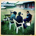 10x10 Producer Martha Adams interviewing a girl, who's part of a Room to Read program, in Bardiya, Nepal.