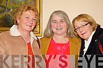 Ann O' Grady, Patricia Jones and Mary Donegan, were in good spirits at the nano nagle social in the Listowel Arms Hotel on Friday night.   Copyright Kerry's Eye 2008