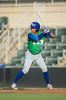 Marten Gasparini (16) of the Lexington Legends at bat against the Kannapolis Intimidators at Kannapolis Intimidators Stadium on July 14, 2016 in Kannapolis, North Carolina.  The Kannapolis Intimidators defeated the Lexington Legends 4-2.  (Brian Westerholt/Four Seam Images)