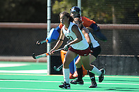 Stanford, CA - SEPTEMBER 27:  Defender Rachel Bush #21 of the Stanford Cardinal during Stanford's 7-0 win against the Pacific Tigers on September 27, 2008 at the Varsity Field Hockey Turf in Stanford, California.