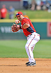 10 March 2012: Washington Nationals' infielder Mark DeRosa in action against the New York Mets at Space Coast Stadium in Viera, Florida. The Nationals defeated the Mets 8-2 in Grapefruit League play. Mandatory Credit: Ed Wolfstein Photo