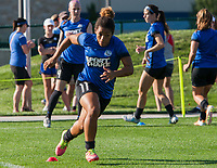 Kansas City, MO - Sunday July 02, 2017:  Desiree Scott warms up before a regular season National Women's Soccer League (NWSL) match between FC Kansas City and the Houston Dash at Children's Mercy Victory Field.