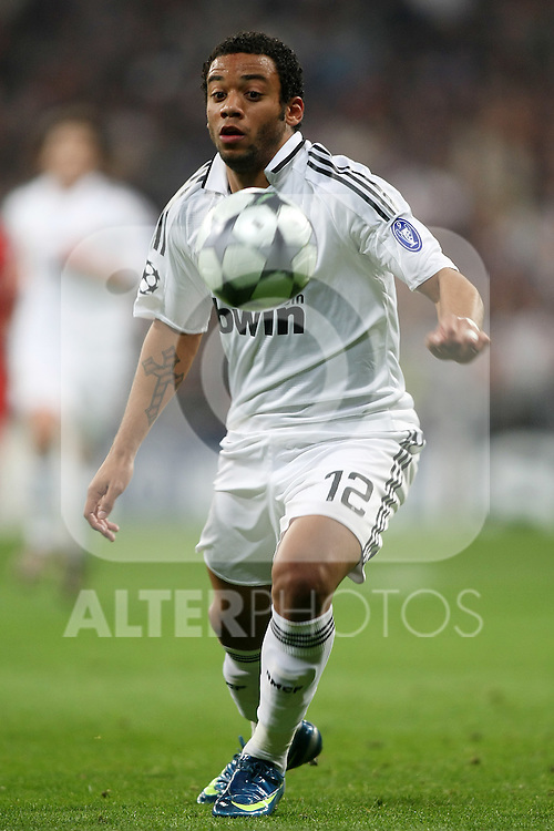 Real Madrid's Marcelo Vieira during the UEFA Champions League match. February 25 2009. (ALTERPHOTOS/Acero).