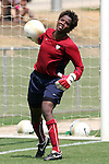 28 July 2006: Goalkeeper Briana Scurry. The United States Women's National Team trained at SAS Soccer Park in Cary, North Carolina, in preparation for an International Friendly match against Canada to be played on Sunday, July 30.