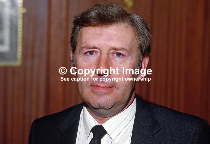 Jim Logan, station manager, British Airways, Belfast Airport, Aldergrove, N Ireland, 19850027JL..Copyright Image from Victor Patterson, 54 Dorchester Park, Belfast, UK, BT9 6RJ..Tel: +44 28 9066 1296.Mob: +44 7802 353836.Voicemail +44 20 8816 7153.Skype: victorpattersonbelfast.Email: victorpatterson@mac.com.Email: victorpatterson@ireland.com (back-up)..IMPORTANT: If you wish to use this image or any other of my images please go to www.victorpatterson.com and click on the Terms & Conditions. Then contact me by email or phone with the reference number(s) of the image(s) concerned.