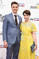 Ashley Day and Leanne Cope<br /> at the South Bank Sky Arts Awards 2017, Savoy Hotel, London. <br /> <br /> <br /> ©Ash Knotek  D3288  09/07/2017