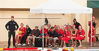 Stanford - February 1, 2015: Team during the Stanford vs UCLA title match of the 2015 Stanford Invitational at Avery Aquatic Center on Sunday afternoon.<br /> <br /> The Cardinal defeated the Bruins 9-5.