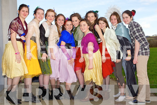 Mercy Mounthawk students getting ready to stage their production of 'Oliver' from left: Meg Hurley, Aoife Grimes, Maeve Burke, Elaine Heaslip, Sarah Quigley, Eva Lee, Alisha Finnerty, Aisling Williams, Sinead Ryan, Fiona Kavanagh and Megan Daly.