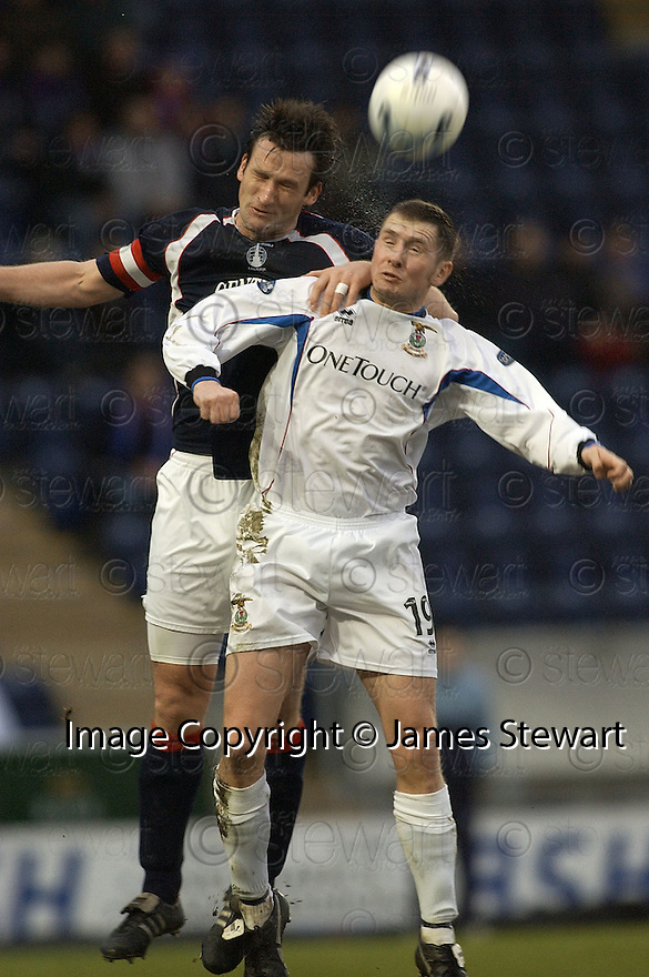 21/01/2006         Copyright Pic: James Stewart.File Name : sct_jspa26_falkirk_v_inverness.CRAIG IRELAND AND DENNIS WYNESS CHALLENGE FOR THE BALL....Payments to :.James Stewart Photo Agency 19 Carronlea Drive, Falkirk. FK2 8DN      Vat Reg No. 607 6932 25.Office     : +44 (0)1324 570906     .Mobile   : +44 (0)7721 416997.Fax         : +44 (0)1324 570906.E-mail  :  jim@jspa.co.uk.If you require further information then contact Jim Stewart on any of the numbers above.........