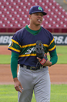 Beloit Snappers infielder Yairo Munoz (13) prior to a Midwest League game against the Wisconsin Timber Rattlers on May 30th, 2015 at Fox Cities Stadium in Appleton, Wisconsin. Wisconsin defeated Beloit 5-3 in the completion of a game originally started on May 29th before being suspended by rain with the score tied 3-3 in the sixth inning. (Brad Krause/Four Seam Images)
