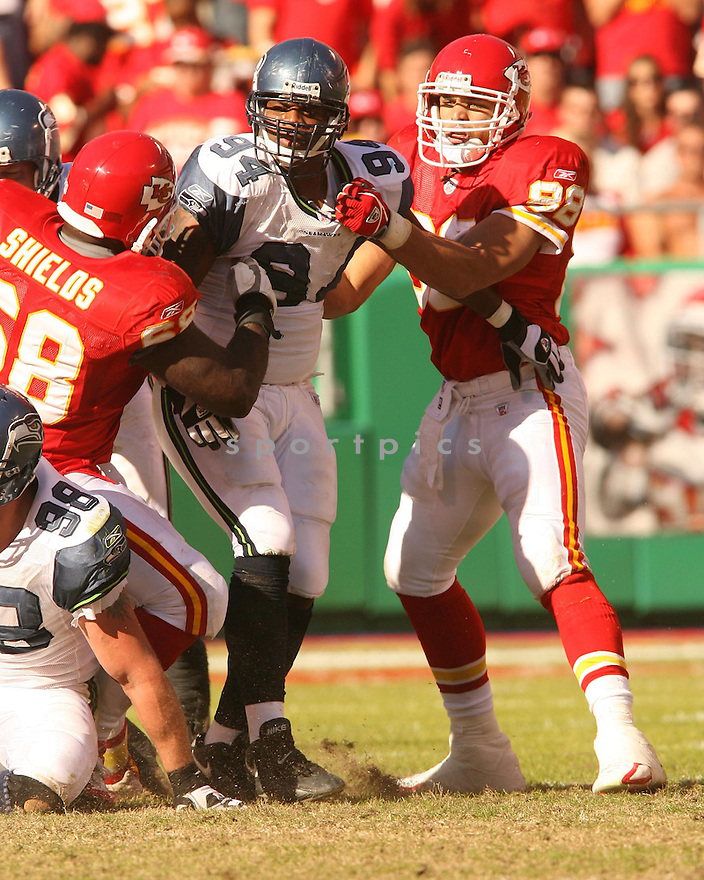 BRYCE FISHER, of the Seattle Seahawks in action against the Kansas City Chiefs on October 29, 2006 in Kansas City, MO...Chiefs win 35-28..Kevin Tanaka/ SportPics